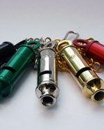 Coloured metal Whistles