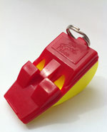 Tornado 2000 safety whistle - red/yellow
